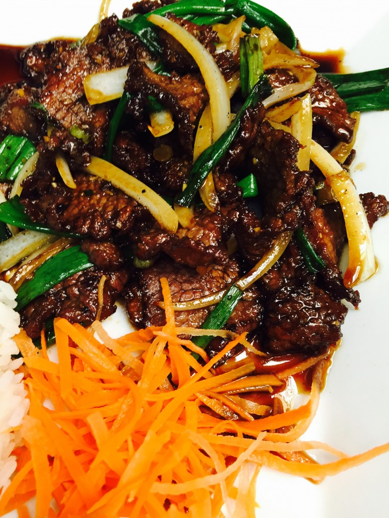 Mongolian Beef - SushiO Menu Raleigh
