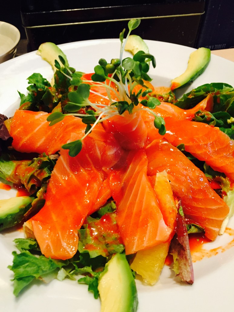 SpiceySalmonSalad - - SushiO-Raleigh - best Sushi in Raleigh